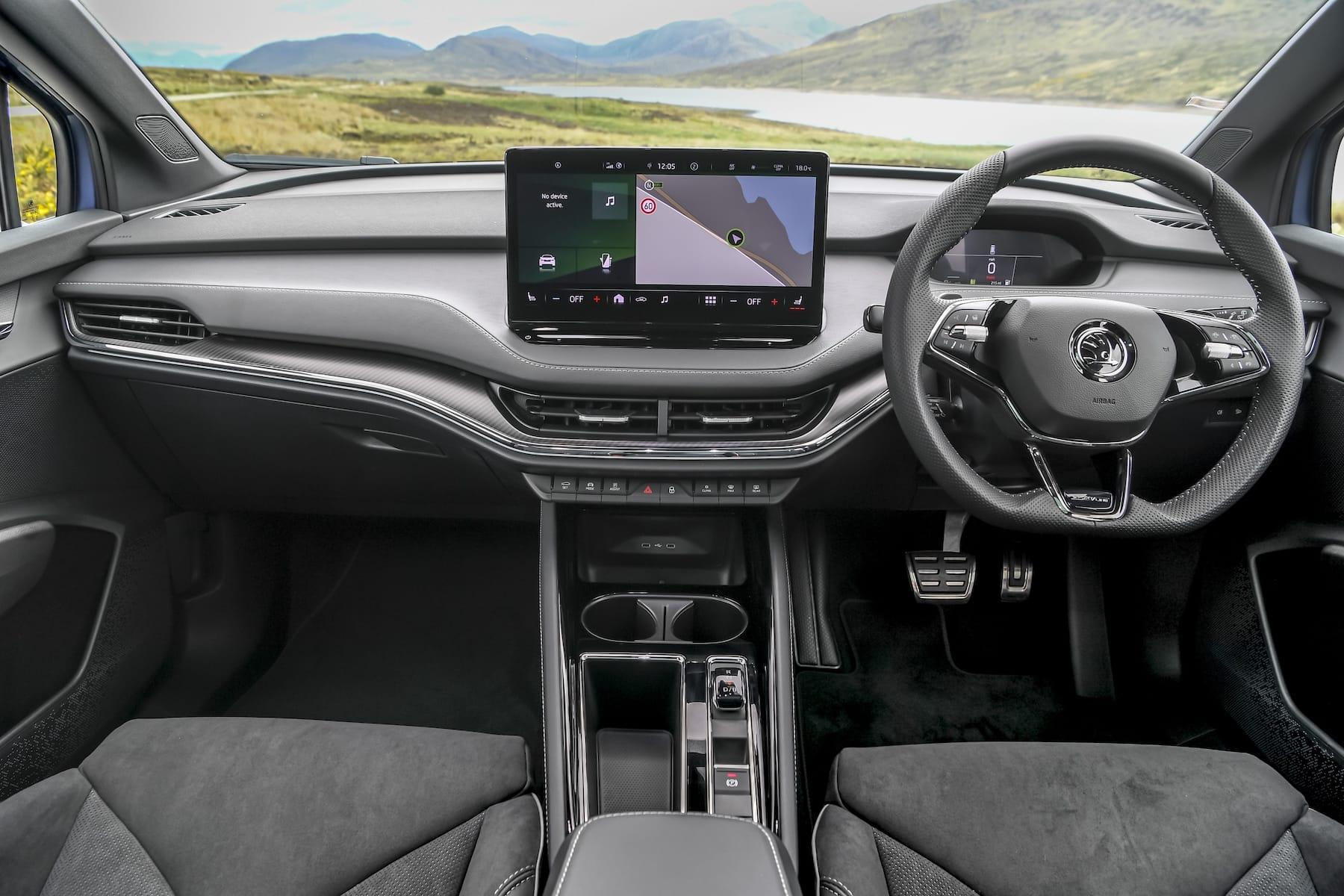 Skoda Enyaq iV SportLine (2021 onwards) – interior and dashboard